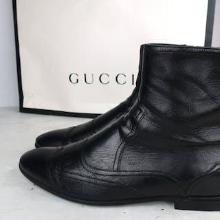 1b40a124c433 Gucci - Calfleather Brittan Ankle Boots - Size: EU 41UK 7