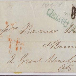 Gran Bretagna - Inghilterra 1840 - penny black cover-Plate VII - Yvert 1