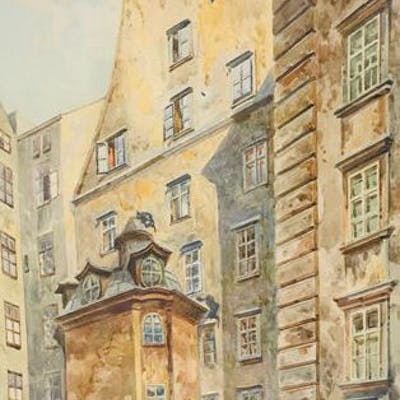 Erwin Pendl (1875-1945) - Häuseransicht aus Wien