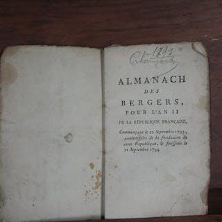 Almanach des bergers pour l'an II de la République Française - 1793