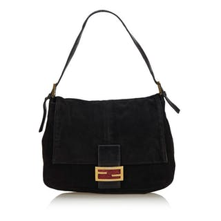 Fendi - Suede Mamma Baguette Shoulder Bag