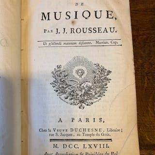 J.J Rousseau - Dictionnaire de musique de J.J Rousseau - 1768