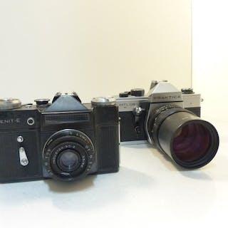 Praktica, Zenit E + Industarr 50mm F3.5 (pancake), MTL 50+ pentacon 135mm F2.8