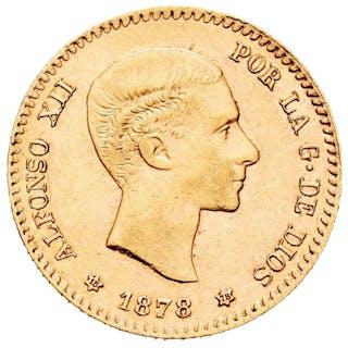 España - 10 Pesetas - Alfonso XII(1874-1885) -1878 /* 18-78 - Madrid