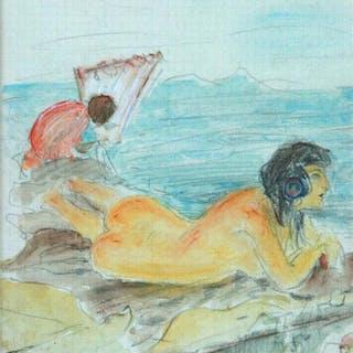 Carlos Vazquez Ubeda (1869-1944) - Figuras en el mar