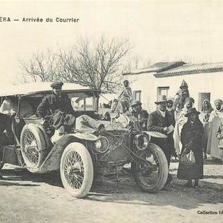 Algeria - Ain Ousera - Arrival of the courier by car