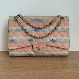 6bd38b9523 Chanel -Watercolor Maxi Flapbag Shoulder bag