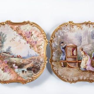 Coiffe, Limoges - Dish (2) - Porcelain