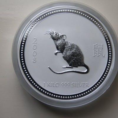 Australia - 30 Dollar 2008 Lunar - Year of the Rat - 1 Kg