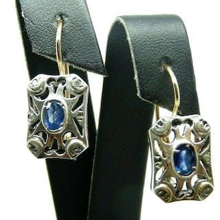 3e6fff1238620 earrings sapphire | Barnebys