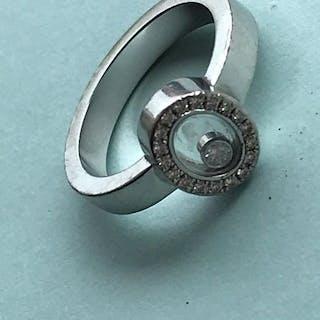 Chopard - 18 kt. White gold, diamonds - Ring - 0.05 ct Diamond