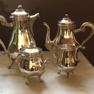 christofle  - christofle  - Service à café (4) - Métal argenté