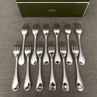 Christofle modèle Albi - Fourchettes à dîner  (12) - Métal argenté