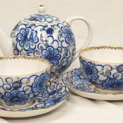 Slavina N. P. - Lomonosov - Tea for Two (3) - Porcellana