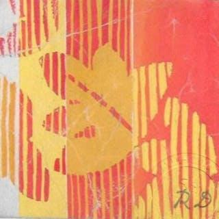 Raoul Dufy (1877-1953)- Fleurs orange sur fond strié
