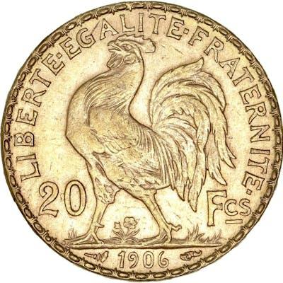 France - 20 Francs  1906 Marianne - Or