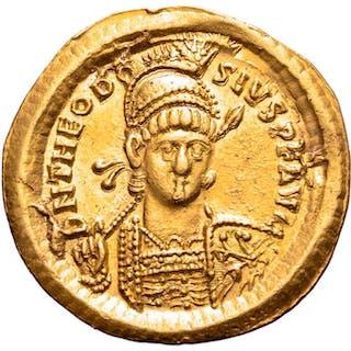 Imperio Romano - Solidus - Theodosius II(402 - 450 A.D)...