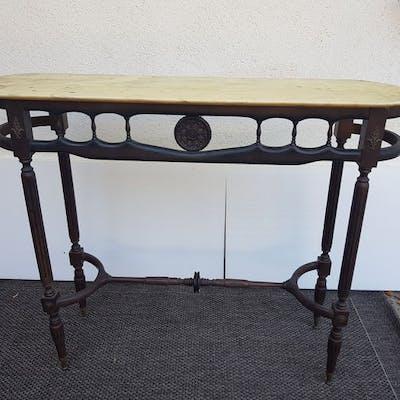 Consolle tavolino da ingresso interamente in legno