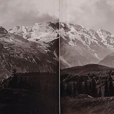 Anonimo (XIX)  - Swiss Alps Panorama, ca 1880