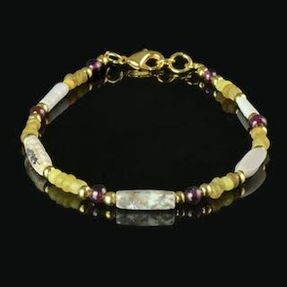 Römisches Reich Glas Armband mit gelben Glas