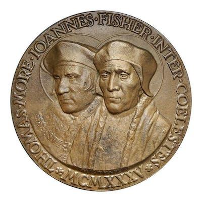"""Italia - Medaglia """"canonizzazione di Tommaso Moro e..."""