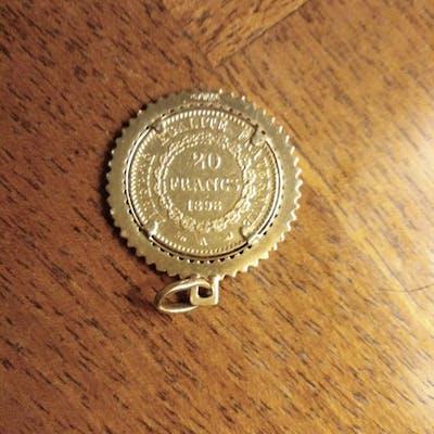Francia - 20 Francs 1898  a ciondolo - Oro