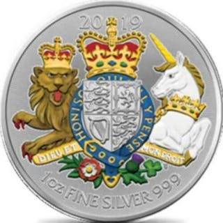 Vereinigtes Königreich - 2 Pound 2019 UK Royal Coat of...