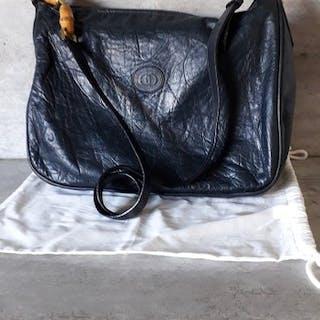 b0ecc52ec Gucci - Very Rare Flower Embossed Bamboo Messenger bag