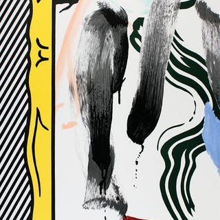 Roy Lichtenstein - Against Apartheid - 1983 - 1980s