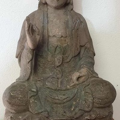 Statua (1) - Legno - Dea - India - Seconda metà del 20° secolo