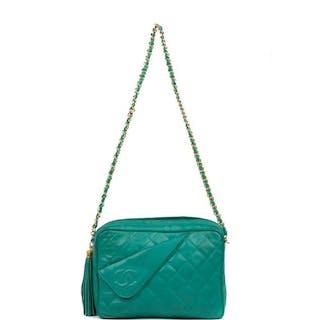 Chanel - Sac en cuir d'agneau vert émeraude Crossbody bag