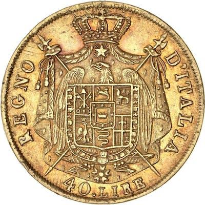 Italie - 40 Lire 1809-M Napoleon I - Or