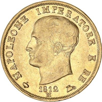 Italie - 40 Lire 1812-M Napoleon I - Or