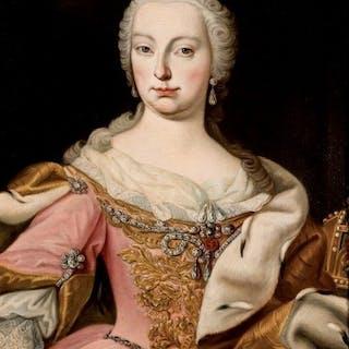 Escuela Austriaca XVIII - Retrato de Maria Teresa de Austria