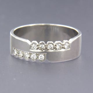 18 kt. White gold - Ring - 0.20 ct Diamond