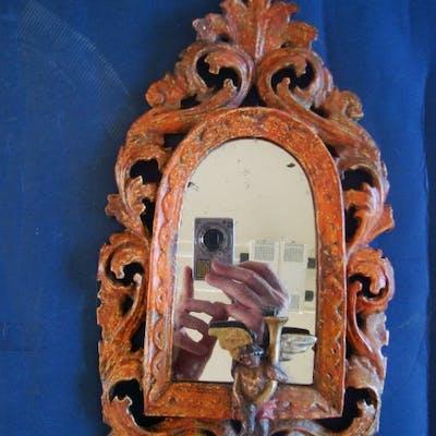 Specchiera, Specchietto (1) - Luigi XIV - Lacca, Legno - XVIII secolo
