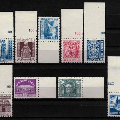 España 1943/1944 - Año Santo Compostelano. Serie completa. - Edifil 961/969