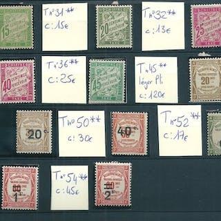 France 1893/1931 - Lot de Timbre-Taxe - Yvert...