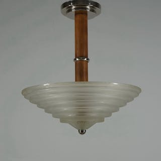 Leleu - French Art Deco chandelier Hängelampe