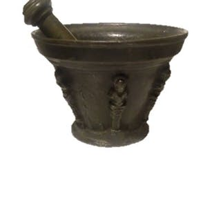 1500 French mortar - Bronze - 16th century
