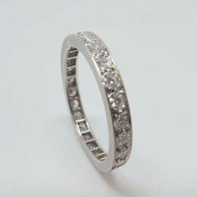 900 Platine - alliance américaine - 1.30 ct Diamant