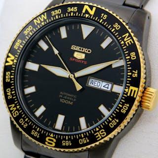 "Seiko - Automatic 24 Jewels ""Black-Gold"" 100M  - ""NO..."
