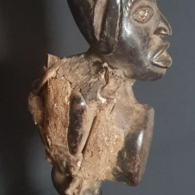 Statue(s) (1) - Animal, Wood - fétiche- Congo