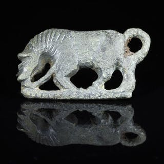 Ancient Roman Bronze Horse Brooch