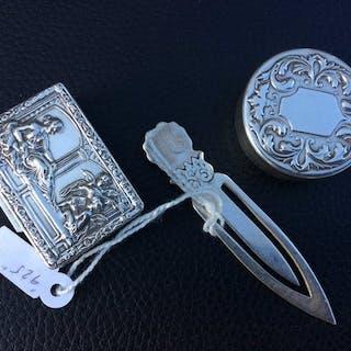 Pastilleros y marcapaginas (3) - .800 plata