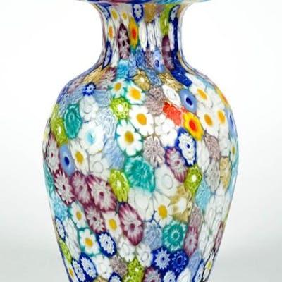 Livio Campanella Murano Murrina Millefiori Vase Glass Barnebys