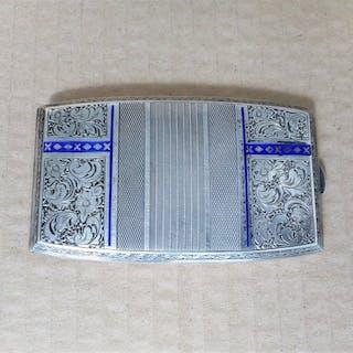 Caja de cigarrillos - .935 Plata y Esmalte - Alemania - Principios del siglo XX