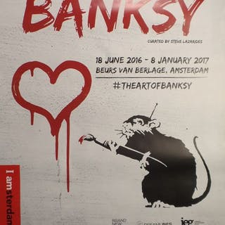 Banksy - The art of Banksy, Amsterdam - 2016