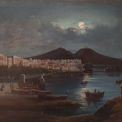Francesco Fergola (1821-1894) - Napoli al chiar di luna