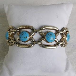 800 Silber, Vergoldet - Armband